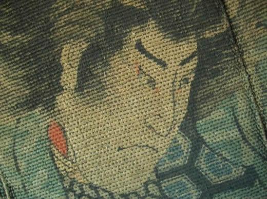 超希少 古い長半纏� 江戸 浮世絵 歌舞伎 検10刺子刺し子火消し