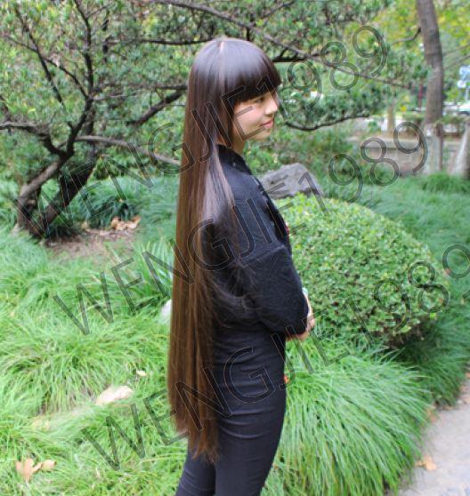 断髪動画 1番人気!髪束 人毛 髪の毛 貴重な映像♪ カット流れ