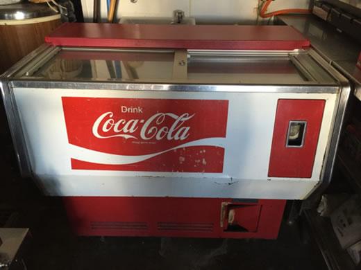 コカコーラ 空冷 冷蔵庫 W102×H66.5×T83cm 昭和物 動作確認済