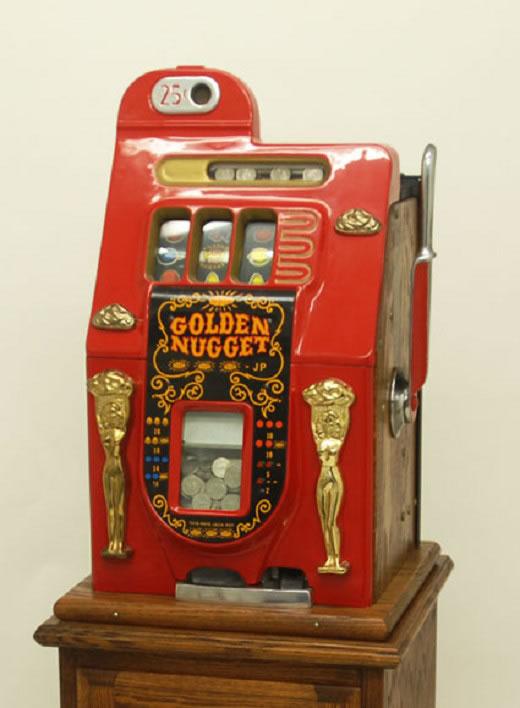 Mills 25¢ゴールデンナゲットスロットルマシーン(売り切り)