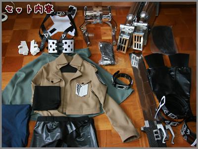 ★進撃の巨人 ミカサ 調査兵団 立体機動装置 コスプレ衣装