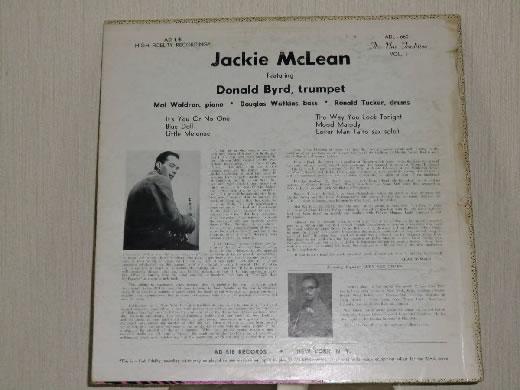 JACKIE McLEAN QUINTET, VOL.1 AD LIB RECORDS ADL 6601