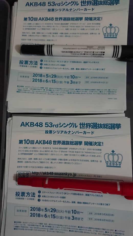 AKB48 世界選抜総選挙投票券 400枚
