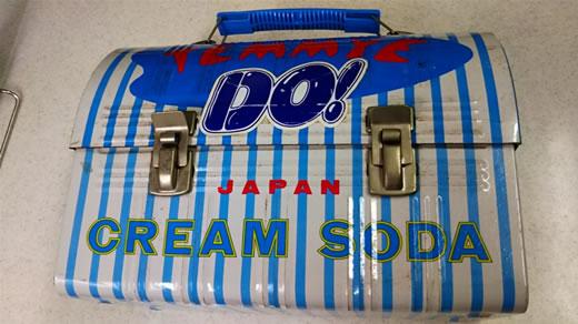 クリームソーダ ブラックキャッツ TEMMYE 原宿 ブリキ ケース 手持ち付き 昭和レトロ CREAM SODA