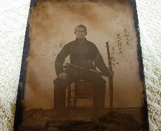 写真乾板 武士 侍 サムライ 幕末 明治初期 レア ガラス乾板