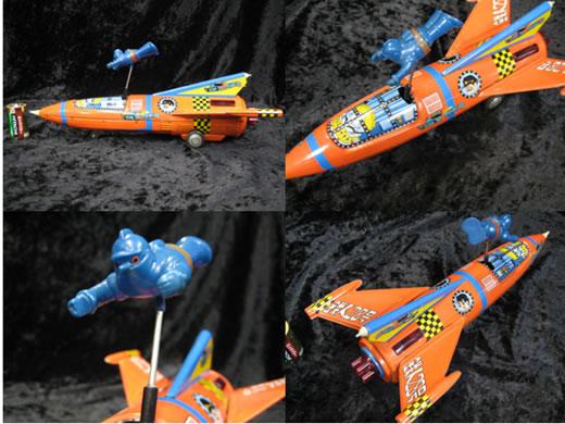 幻珍品1960年代後期ヨネザワ鉄人28号ソフビ・ロケットブリキ