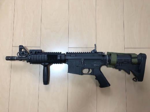 実物 Knight's Armament製 RIS M4CQBR 実物パーツ満載カスタム SEAL ODA DELTA MLCS EAGLE BALCS KAC