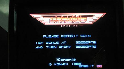 コナミ/Konami  グラディウス ROMバージョン JAMMAハーネス付
