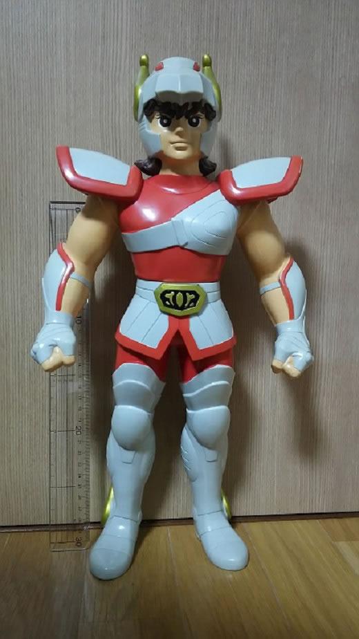 1987年バンダイ 店頭見本用 ビッグソフビ 聖闘士星矢 ジャンボマシンダーサイズ