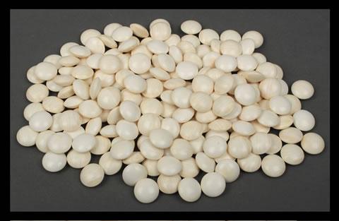 【千】厚い古い碁石(約10.5mm)蛤の白石と那智黒の黒石