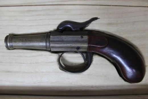 珍品 管打ち式 短筒 古式銃 売切り 登録証付き