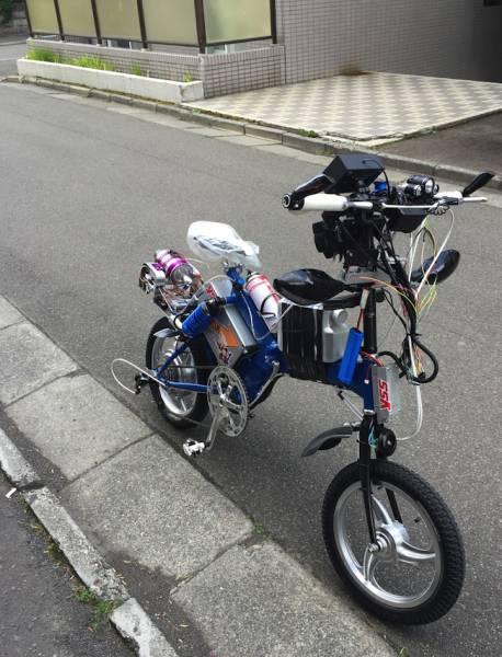 電動ジェットエンジン付き 16inchi 自転車 自作