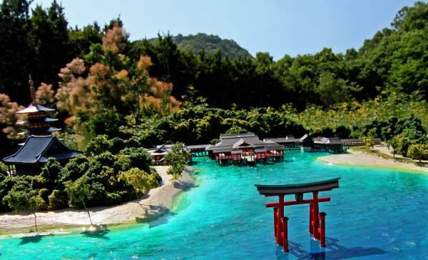 [1/400]世界遺産 厳島神社■日本三景 安芸 宮島■ジオラマ完成品