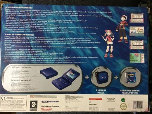 ポケモン/サファイア/EU版/LIMITED EDITION SUPER PAK /ゲームボーイアドバンスSPカイオーガバージョン同梱版未開封