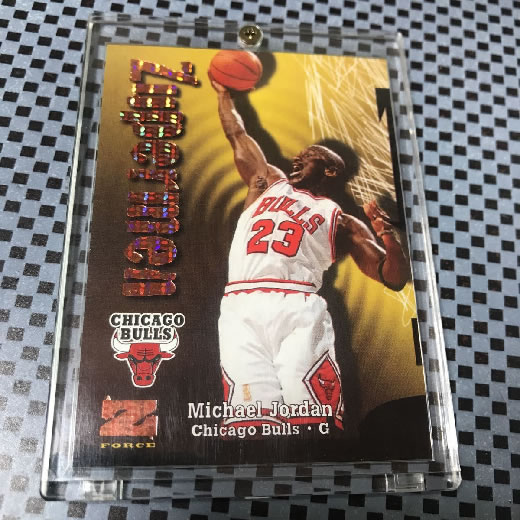 1997-98 Skybox Z-Force Super Rave Michael Jordan Zuperman /50