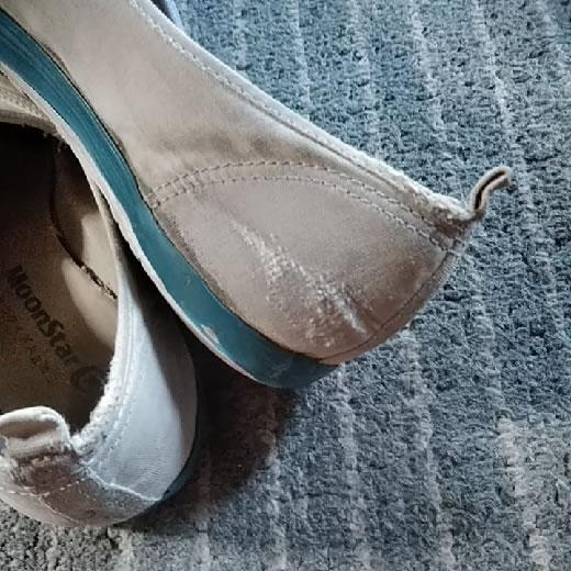 【中古】 女の子用 スクールシューズ 体育館シューズ 24cm 上履き 上靴 難あり