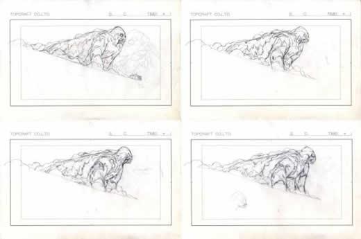 風の谷のナウシカ 庵野秀明直筆ラフ原画