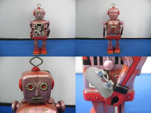 【絶版】 三恵玩具 ブリキ ロボット 箱有り 『動画有り』