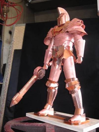 ☆騎士(黒騎士・機動戦士・ナイト)金属模型・オブジェ・飾り 職人手製 オール銅製 貴重☆