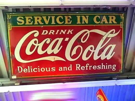 1933年 コカコーラ ホーローストアサイン 超特大