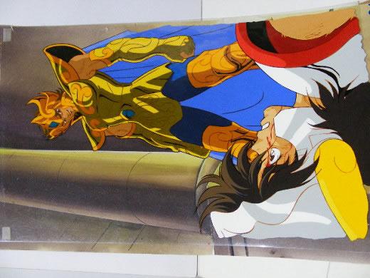 ☆聖闘士星矢「獅子座のアイオリア」のセル画(荒木伸吾・姫野美智)
