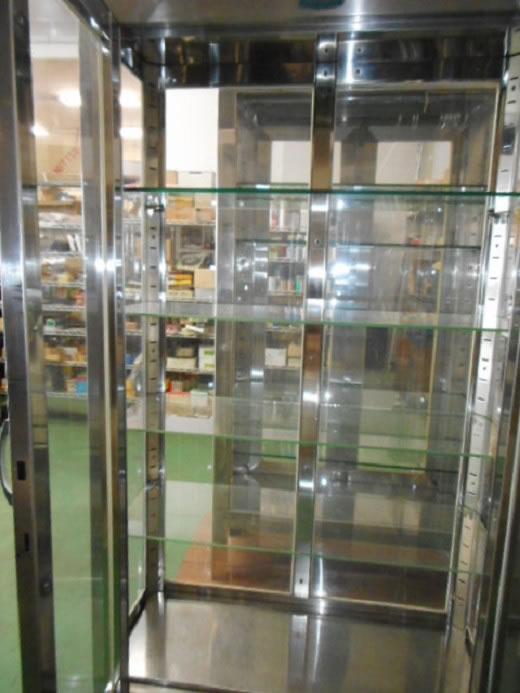レトロ ガラスの薬品庫� 中古品