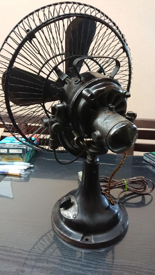 アンティーク 扇風機 レア 希少 川崎型電気扇 / 神戸川崎造船所 / 戦前? レトロ 一応動作確認 現状にて