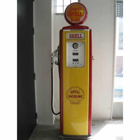 ★ヴィンテージ ガソリン給油機 SHELL★ディスプレイ品!スタンド