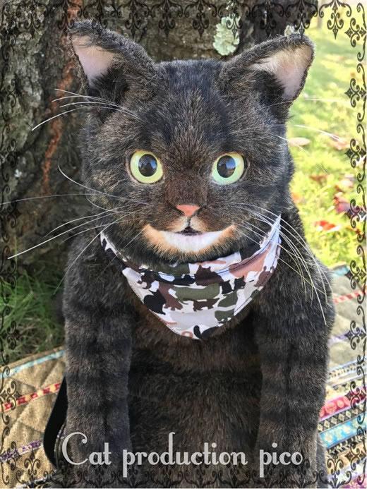 猫制作pico キジトラ リュック ハンドメイド 2way 猫 バッグ