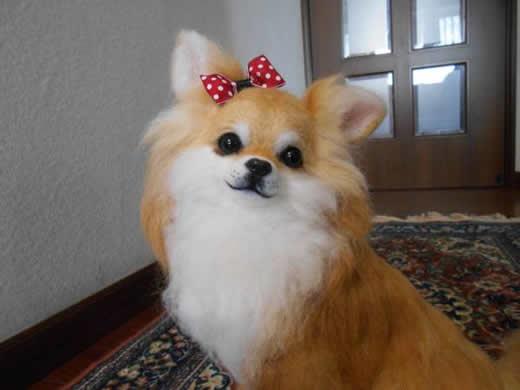☆羊毛フェルト ハンドメイド チワワちゃん(ロング) 犬☆
