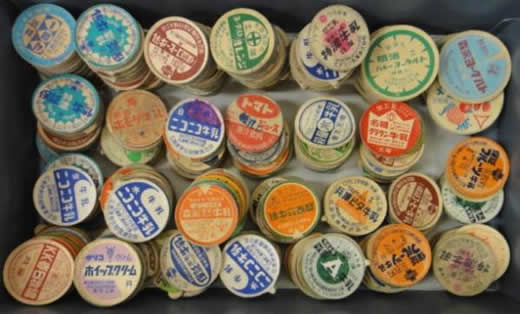 牛乳キャップ 明治 森永 グリコほか色々使用品 300枚以上