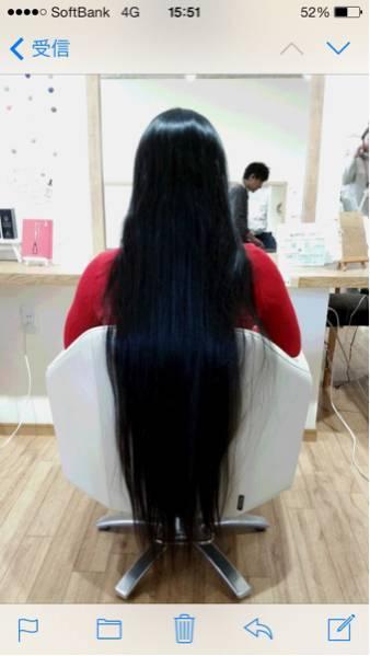 【髪の毛】日本人 パーマ、カラー無しのバージンヘア