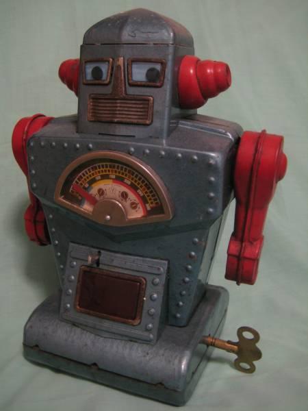 ダイヤモンドプラネットロボット ブルー 米澤玩具 ゼンマイ付