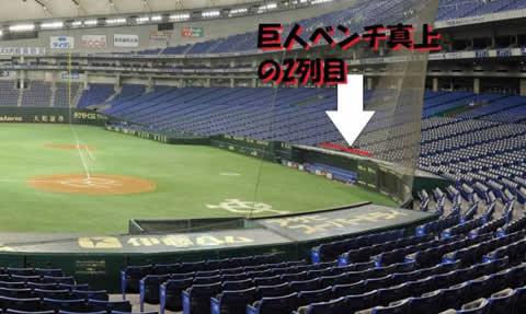 ★超良席!!5/5(日)巨人対広島★スターシート★2枚巨人ベンチ真上
