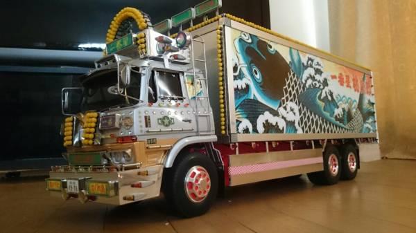 タミヤ 1/14 トラック RC 一番星 望郷一番星 電飾リレー機能付き フルセット ワンオフ製作車両