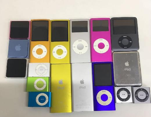★【大量 処分 まとめ お得】ipod nano 紫 オレンジ ピンク シルバー 銀 8GB iphone用イヤホン付き