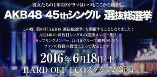 AKB48 45thシングル選抜総選挙 投票券 500枚 速報対応有