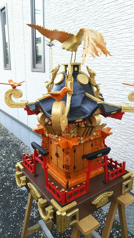 【手作り祭り神輿】地域のお祭り、行事にどうですか?子供神輿 手渡し希望 神奈川県海老名市 みこし 飾り神輿 即決特典あり♪