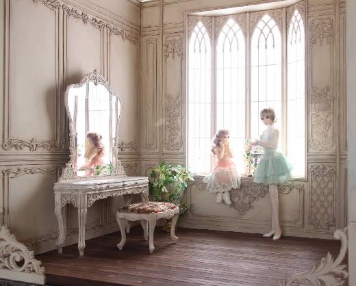 ★1/3ドールハウス〜ドール用背景セット〜★ハンドメイド.作品No.303「Dress」より