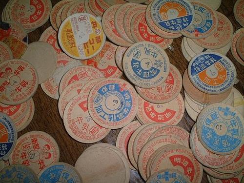 昭和レトロ昔の牛乳瓶の蓋ミルクキャップ/雑貨カントリー