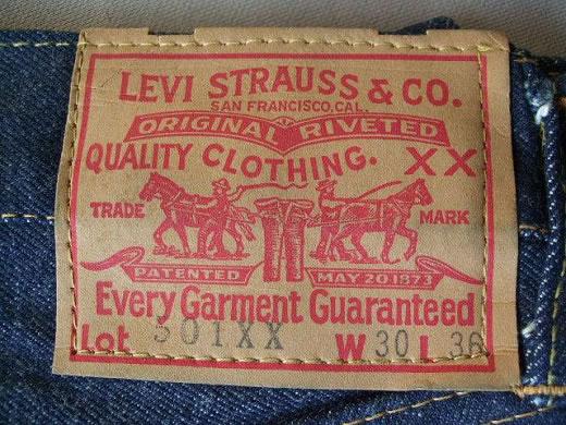 1950s Vintage / LEVIS 501XX W30 L36 / 1950年代モデル / デッドストック ビンテージ 実物 当時物 未使用品 希少 SCARE