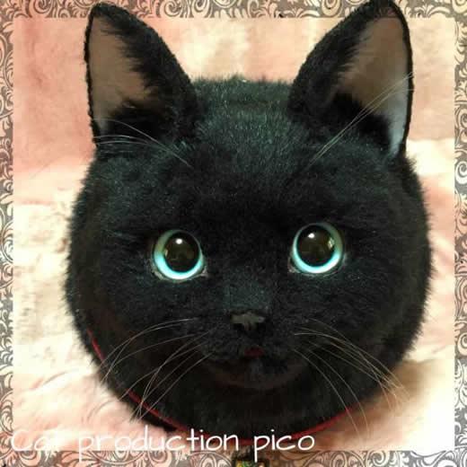 pico 猫 ボストンバッグ ハンドメイド リアル ネコ バッグ