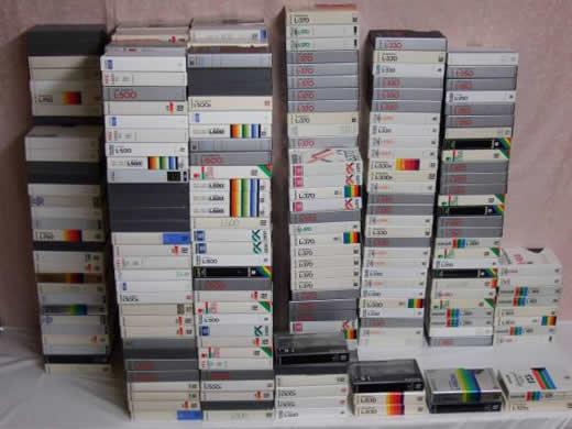 ベータ使用済みテープ 400本以上【ジャンク】