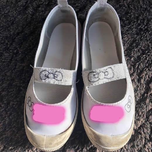 上履き 上靴 小学生 女の子 中古 落書きあり