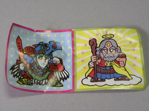 【珍品 未使用品】1980年代当時物 パチ ビックリマン 透明セル 台紙 ミニブック付き ( パチビックリマン ガチャガチャ ガチャポン コスモス