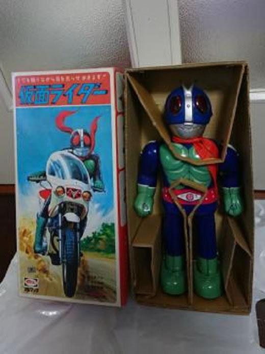 当時物 仮面ライダーのブリキ 電動歩行 ブルマァク 未使用