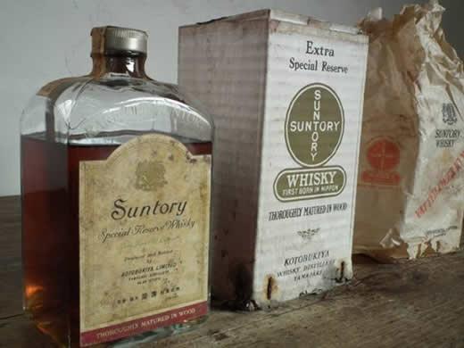 J903. SUNTORY サントリー ウイスキー 古酒 戦前 740cc 未開栓