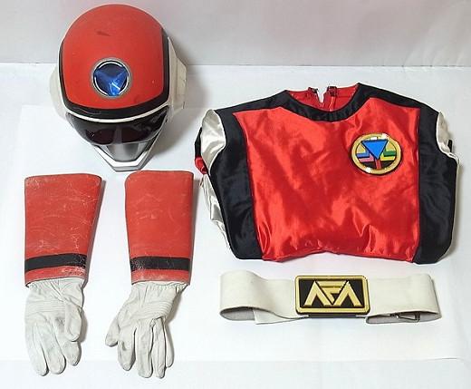 ★☆超新星フラッシュマン レッドフラッシュ 1/1 撮影用コスチューム プロップ 1986年 当時もの☆★
