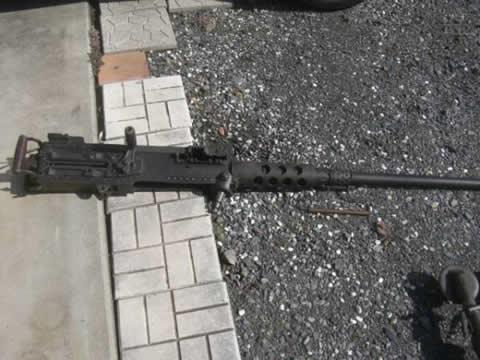 無可動米軍キャリバー50重機関銃 陸軍 軍隊 砲弾