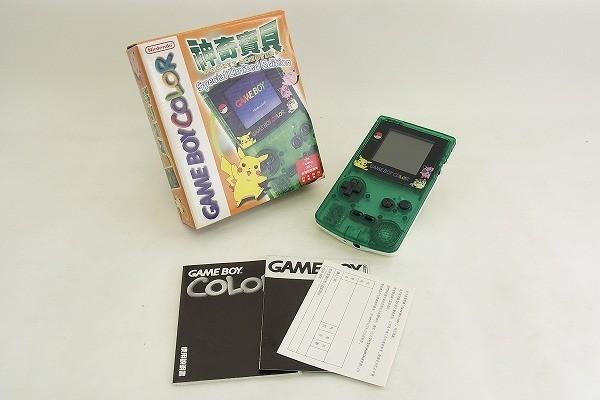 F140-lA3767 通電確認済 美品 台湾限定カラー Nintendo 任天堂 ゲームボーイカラー ポケットモンスターバージョン CGB-001 現状品�